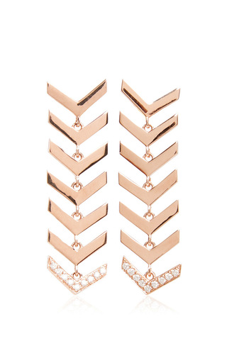 Medium karma el khalil gold rose gold and diamond snake earrings
