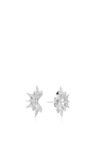 White Gold And Diamond Starburst Earrings by KARMA EL KHALIL Now Available on Moda Operandi