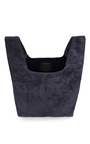 Navy Suede Hayward Shopper by HAYWARD Now Available on Moda Operandi