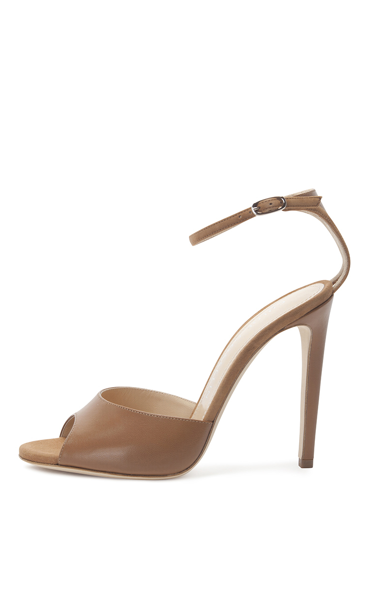 Camel Suede and Nappa Holly Sandal by Chloe Gosselin  17fb4a60c59