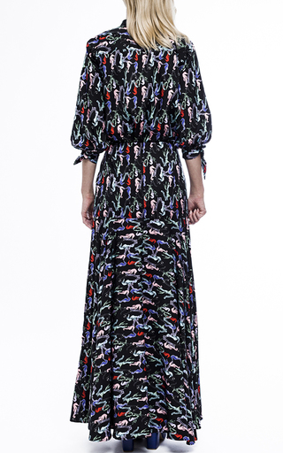 cd5d0ee86f Seahorse Print Fit And Flare Maxi Skirt by Christine Alcalay | Moda Operandi