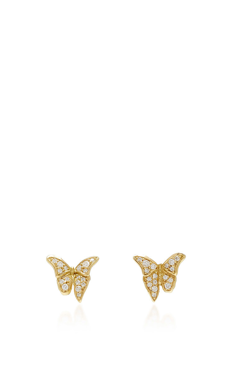 earrings jewelry gold metallic lyst collection caviar women lagos s in stud