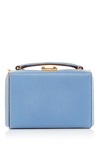 Medium mark cross blue french blue pebble grain grace mini box
