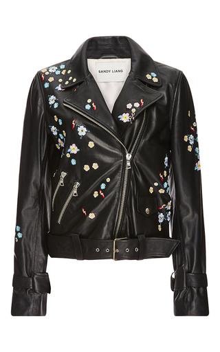 Medium sandy liang black floral delancey leather jacket
