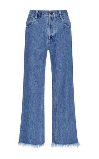 Medium sandy liang blue grandpa jeans