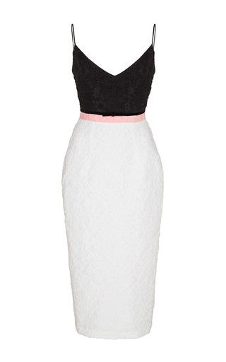 Medium alex perry white jenny floral cotton pencil dress