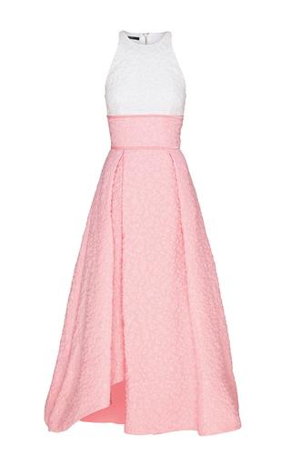 Medium alex perry light pink sissy cotton floral contrast midi dress