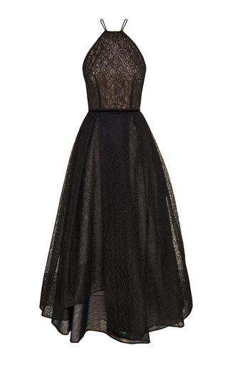 Medium alex perry black casandra halter midi dress
