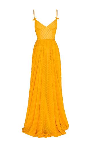 Medium alex perry orange pamela bow gown