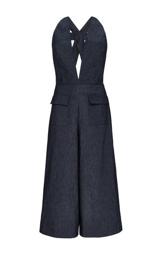 Medium cushnie et ochs blue denim uptown overalls