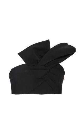 Medium cushnie et ochs black twisted bow crop top