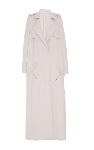 Medium sally lapointe khaki duster trench coat