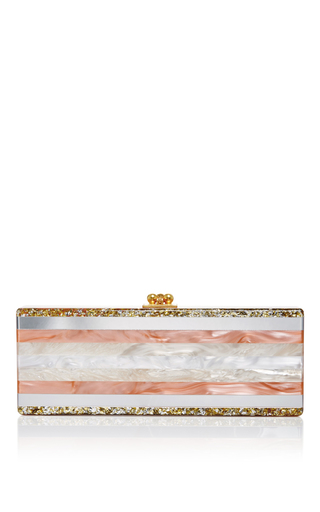 Medium edie parker multi long rectangular flavia striped clutch
