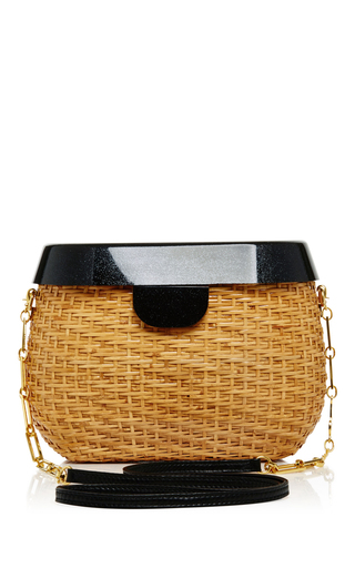 Medium edie parker black jane basket shoulder bag