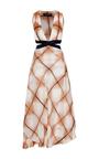 Grid Dye Silk Banded Dress by THAKOON Now Available on Moda Operandi