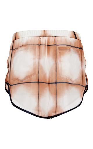 Grid Dye Silk Track Short by THAKOON Now Available on Moda Operandi