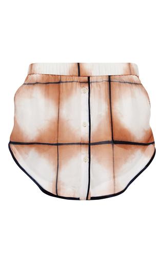 Medium thakoon pink grid dye silk track short