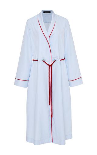 Medium thakoon blue cotton shirting robe coat