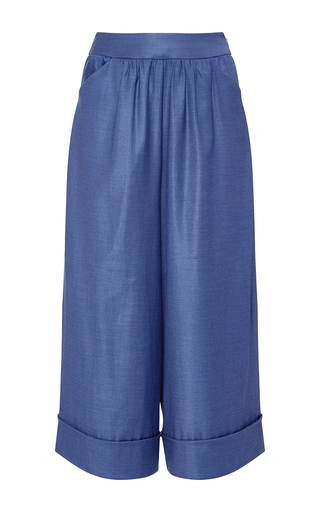 Medium thakoon blue wool suiting culotte