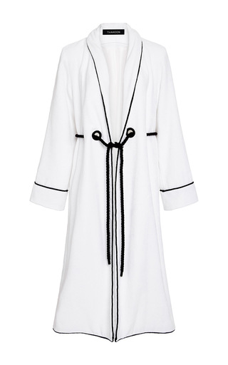 Medium thakoon white terry cloth robe coat