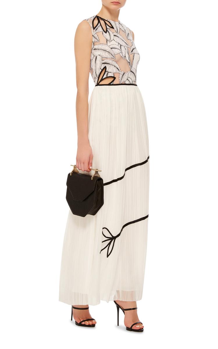 solid chiffon maxi skirt by thakoon moda operandi
