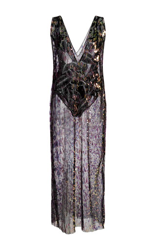 Medium thakoon black sequin embroidered pleated gown