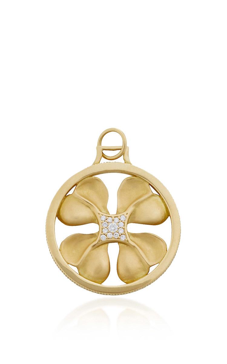 9b8666cd6 Monica Rich Kosann18K Yellow Gold 4-Leaf