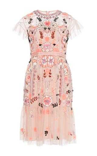Floral Embroidered Tiered Dress By Needle Amp Thread Moda