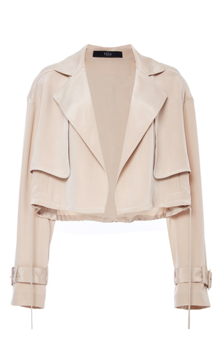 Medium tibi nude cropped moto jacket