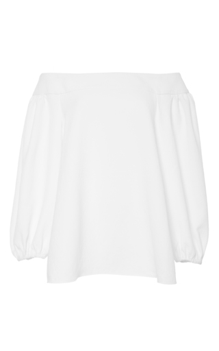 White Off The Shoulder Top by TIBI Now Available on Moda Operandi