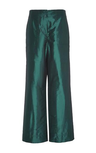 Medium tibi dark green relaxed clean cargo pant