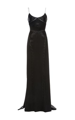 Medium zac posen black deconstructed silk charmeuse gown