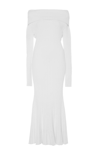 Off The Shoulder Knit Dress by PRABAL GURUNG Now Available on Moda Operandi