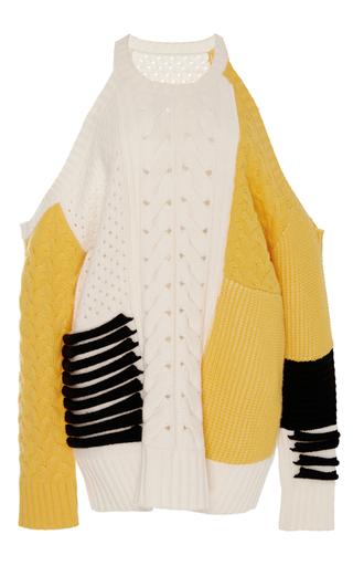 Medium prabal gurung white cashmere cold shoulder sweater