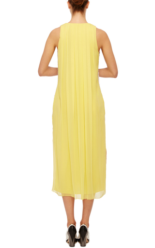 Hand Woven Ribbon Tweed V Neck Dress by PRABAL GURUNG Now Available on Moda Operandi