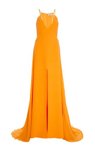 Medium prabal gurung orange v neck charmeuse gown