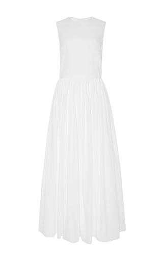 Medium brock white cotton shirting denise dress