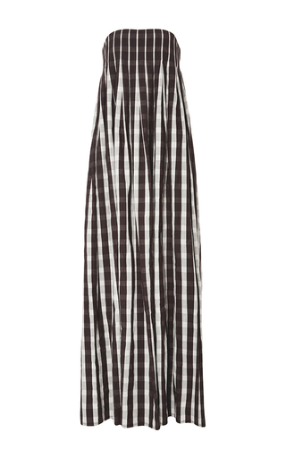 Medium brock plaid linen gingham dilly dress