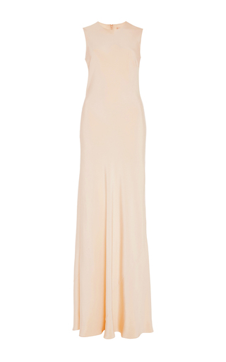 Medium brock nude silk crepe delphine dress