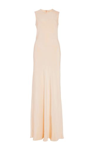 Medium brock nude silk crepe delphine dress