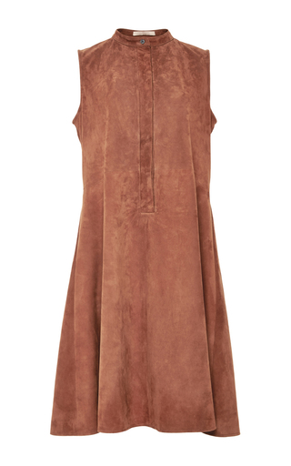 Medium brock red suede larissa dress
