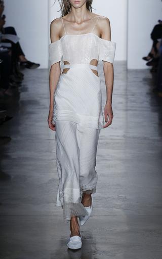 Chiffon And Gauze Long Dress by WES GORDON Now Available on Moda Operandi