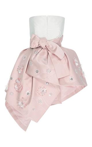 Medium delpozo pink silk moire overskirt top