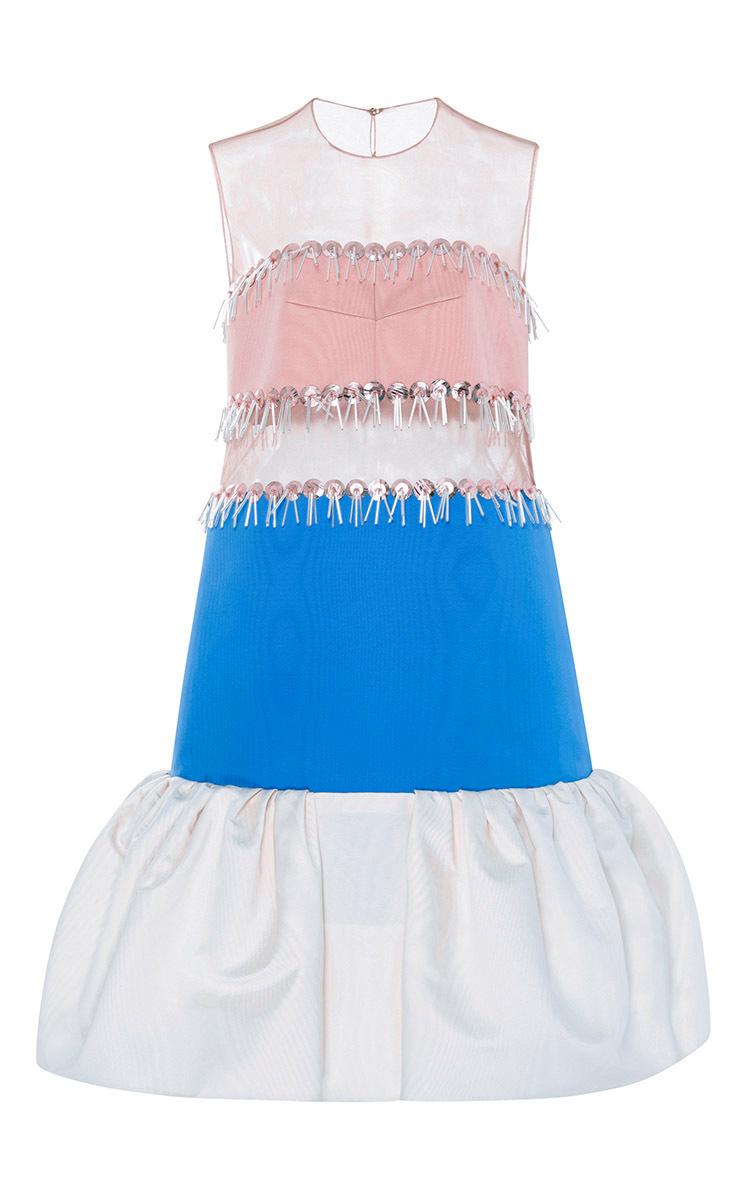 Silk Striped Tulle Dress By Delpozo Moda Operandi