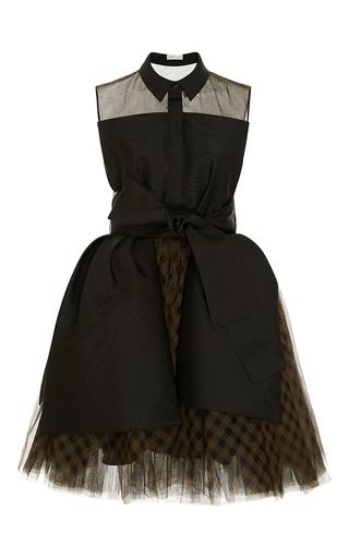 Medium delpozo plaid short checked tulle dress