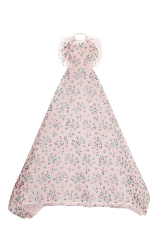 Medium delpozo pink embroidered jacquard ball gown