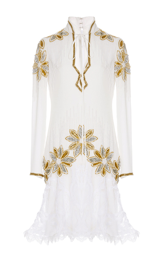 Hand Beaded Floral Lace Dress by RODARTE Now Available on Moda Operandi