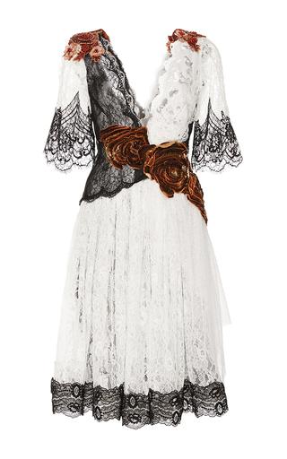 ab7c20bab Floral Embellished Lace Flutter Sleeve Dress by Rodarte