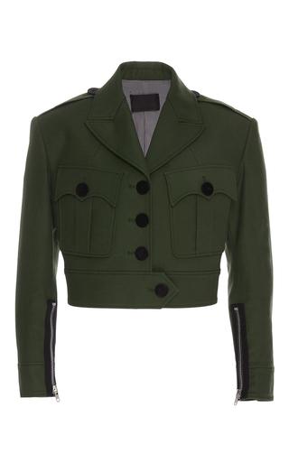 Medium alexander wang green cropped military jacket