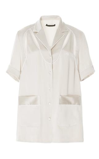 Medium alexander wang nude cream deconstructed pajama shirt